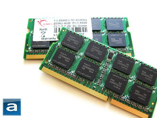 G.SKILL F3-8500CL7D-8GBSQ 2x4GB Laptop DDR3 RAM